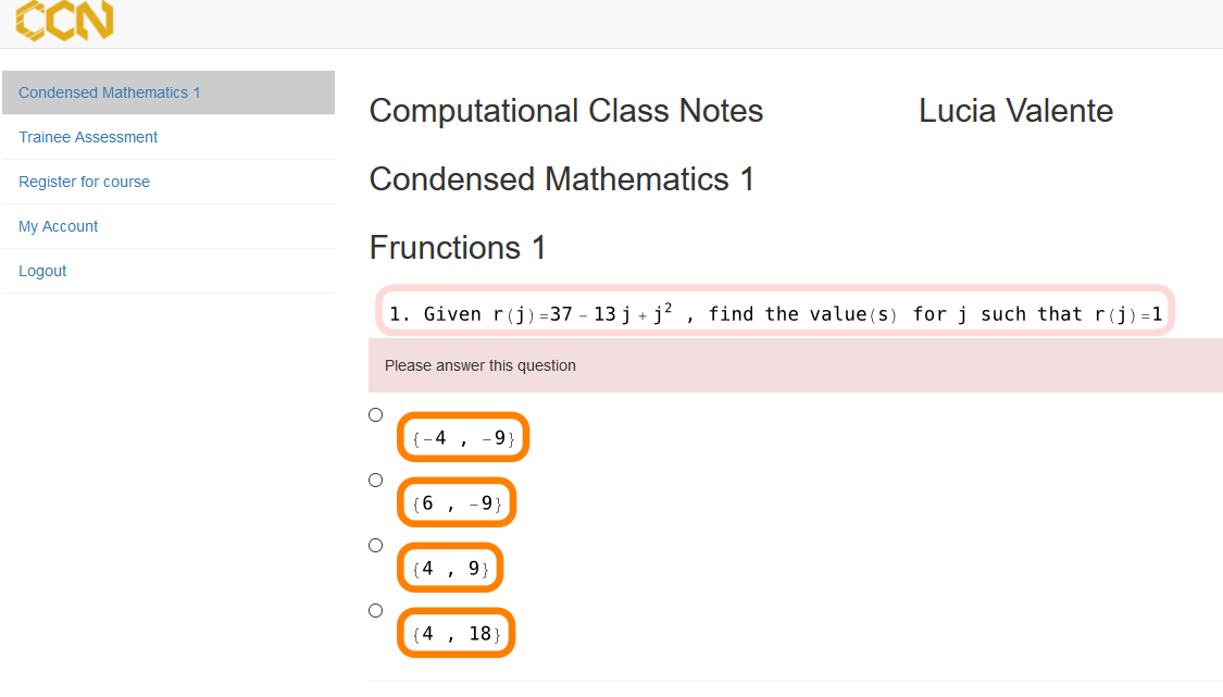 Computational ClassNotes